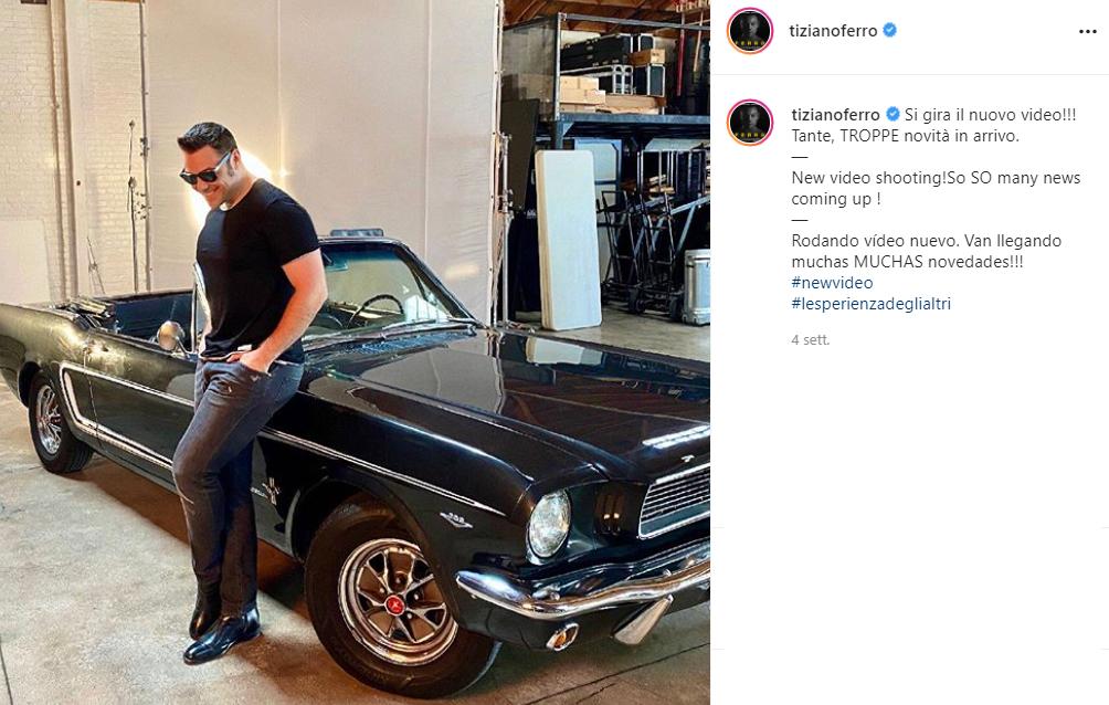 Instagram tiziano Ferro