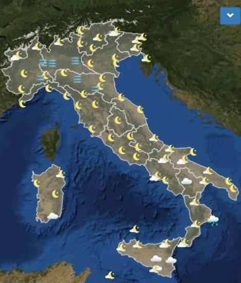 meteo mappa italia