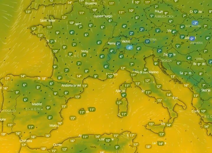 mappa meteo