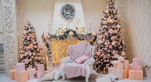 albero natale rosa