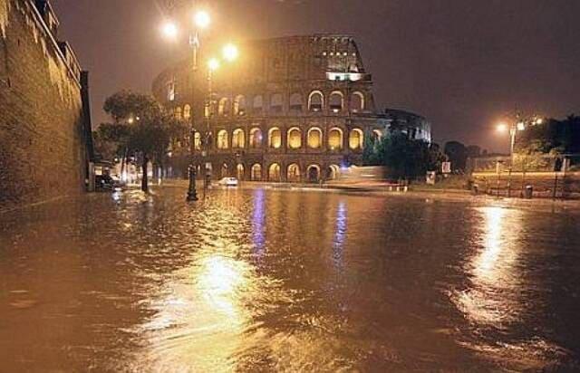 roma piogge
