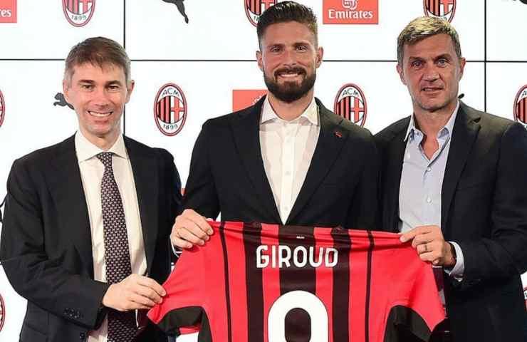 Giroud al Milan