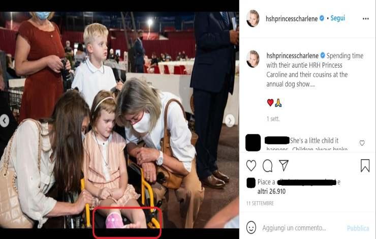 Charlene di Monaco figlia incidente - Solonotizie24